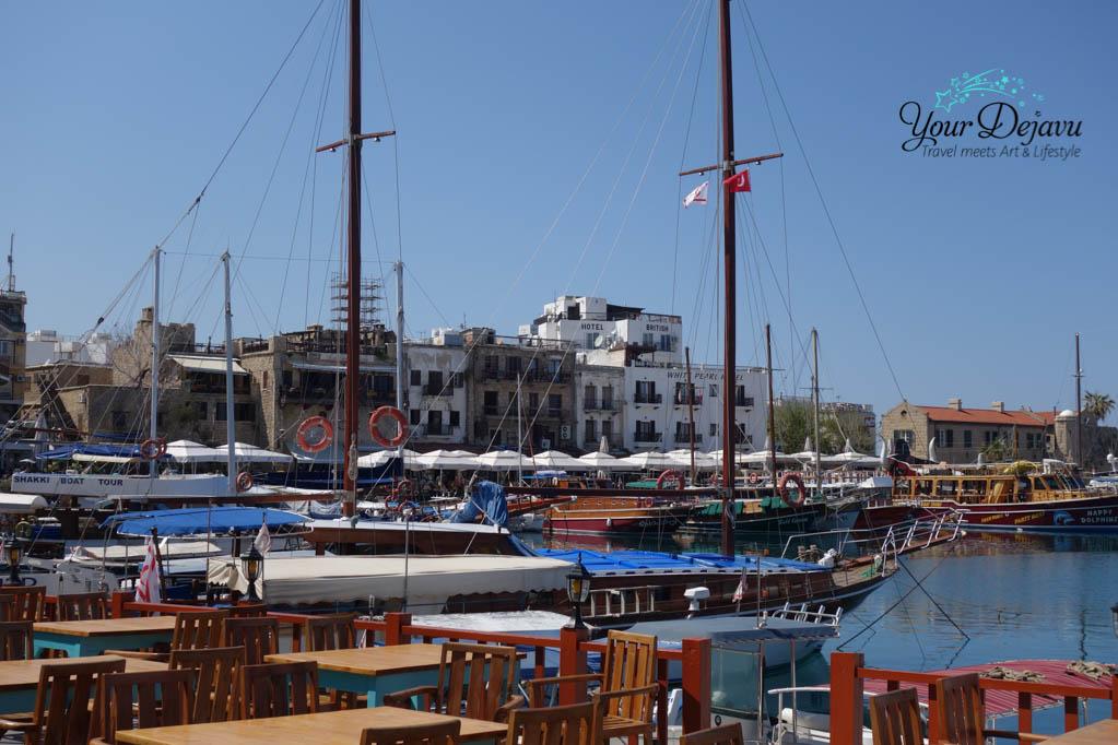 Restaurants am Hafen von Girne