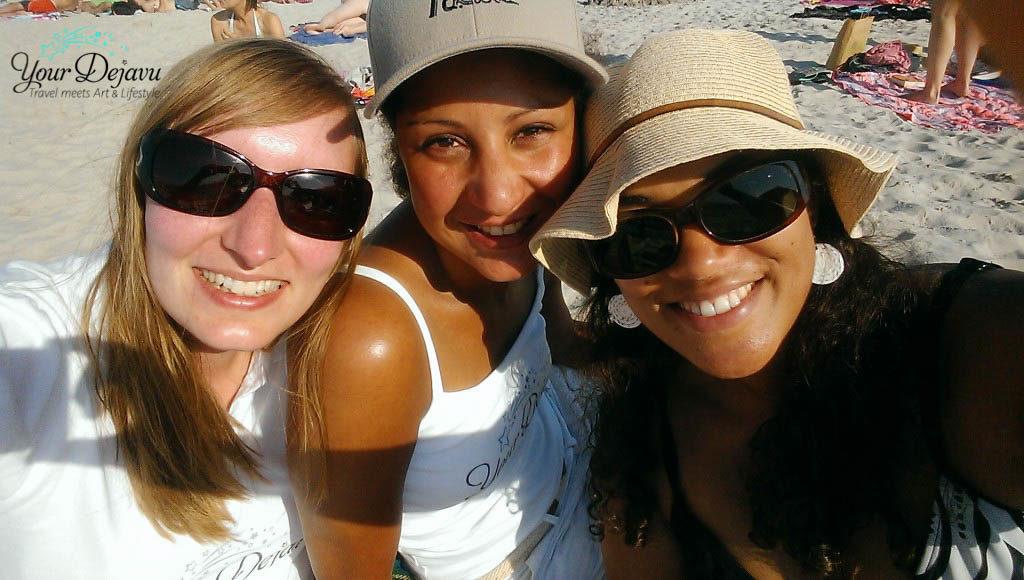 Natalie, Michaela & Annika am Strand