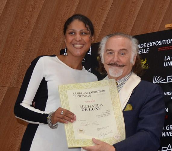 Michaela de Luxe & Jose Van Roy Dali_Auszeichnung